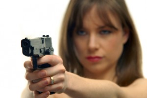 Woman Citizen with a Handgun