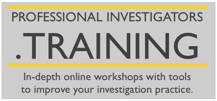 professionalinvestigators.training logo