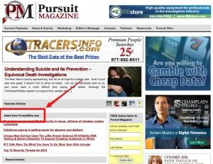 Private Investigator News Wire