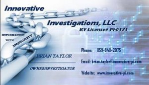 Innovative Investigations, LLC Business Card
