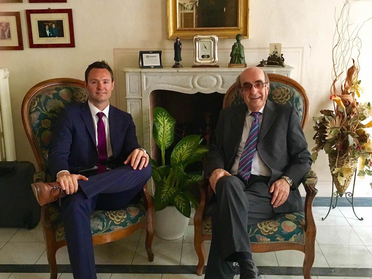 In Alberto's office