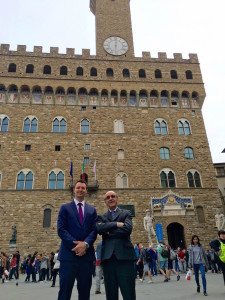 In front of the Palazzo Vecchio