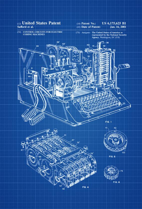 Enigma Machine patent print